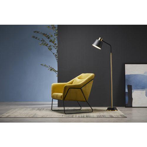 Arcos - Modern Dizájn Fotel Curry Sárga Színben Ajándék Párnával