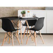 Bari Modern Kerek Étkezőasztal - MDF asztallap, bükkfa lábak. Fehér és szürke színben.  Méret: 70 x 74 cm. / 90 x 74 cm.
