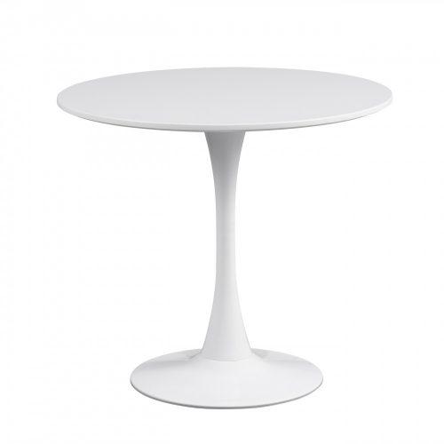 Jesolo Modern Kerek Étkezőasztal Fehér Színben